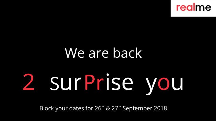 Realme 2 Pro to be announced on September 27 in India