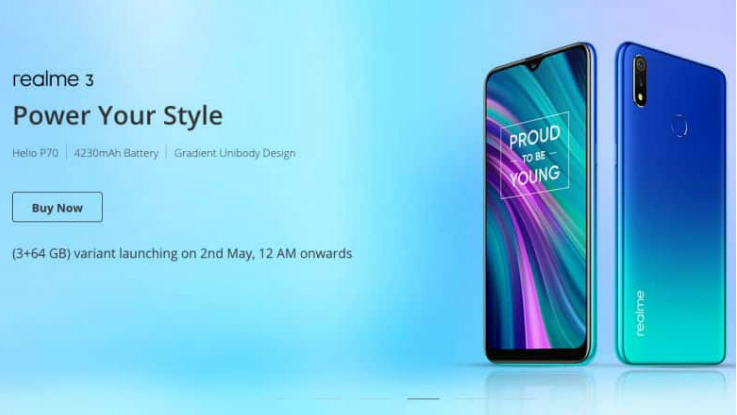 Realme 3 new variant with 3GB RAM and 64GB storage to launch on May 2