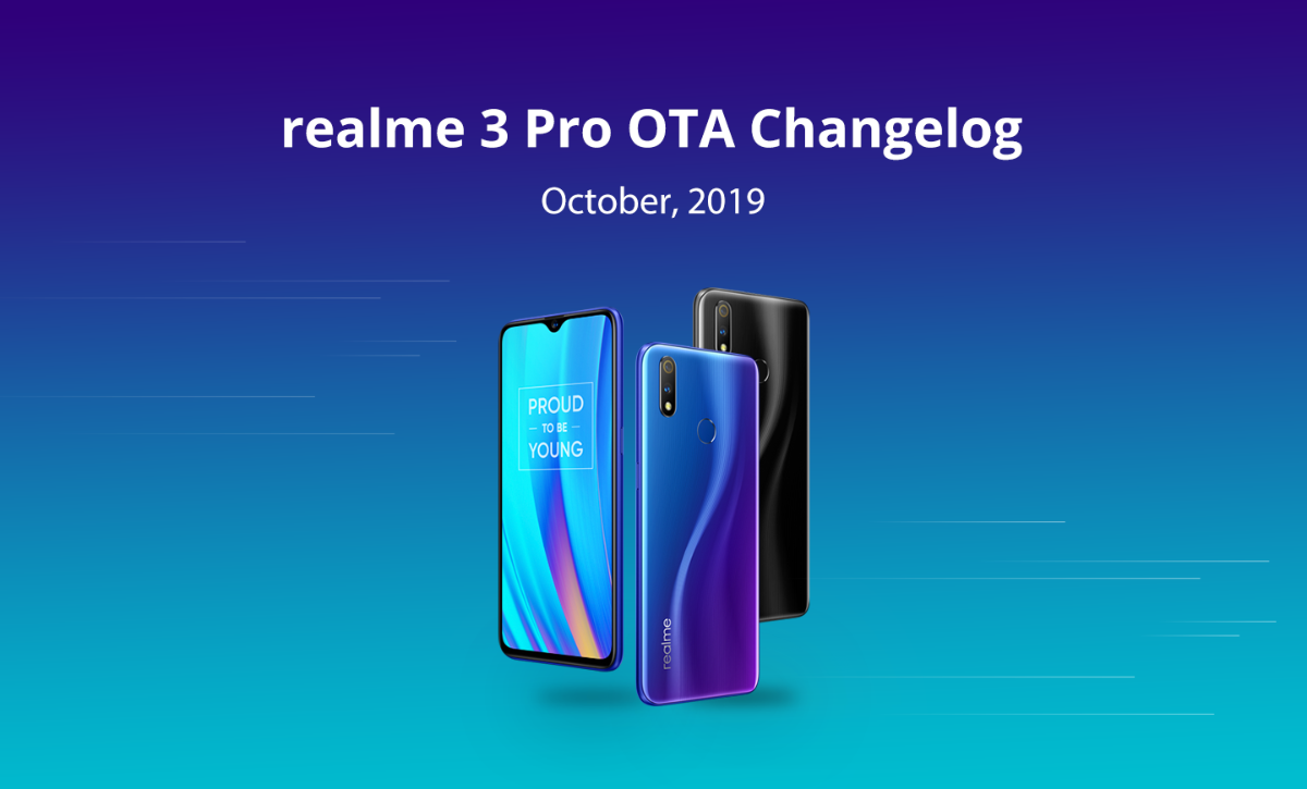 Realme 3 Pro new update brings Dark Mode, October Security Patch and more