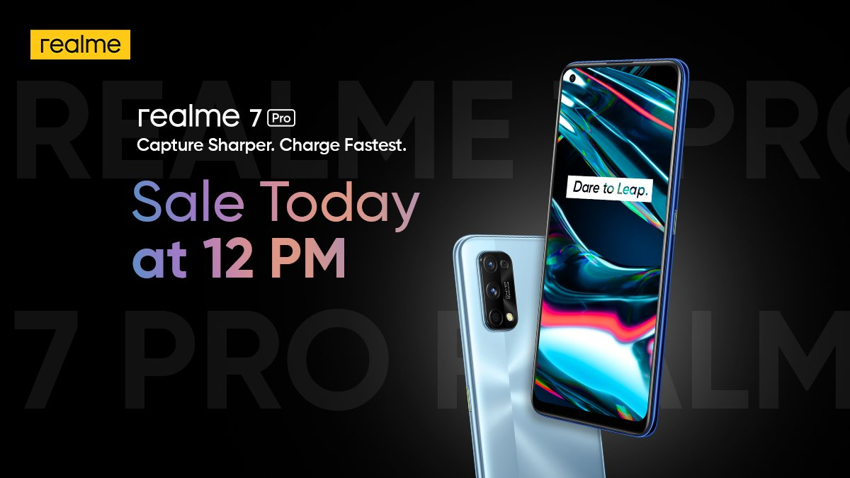 Realme 7 Pro sale to be held today for the first time at 12 PM