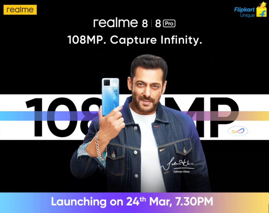 Realme 8, Realme 8 Pro set to launch in India on March 24