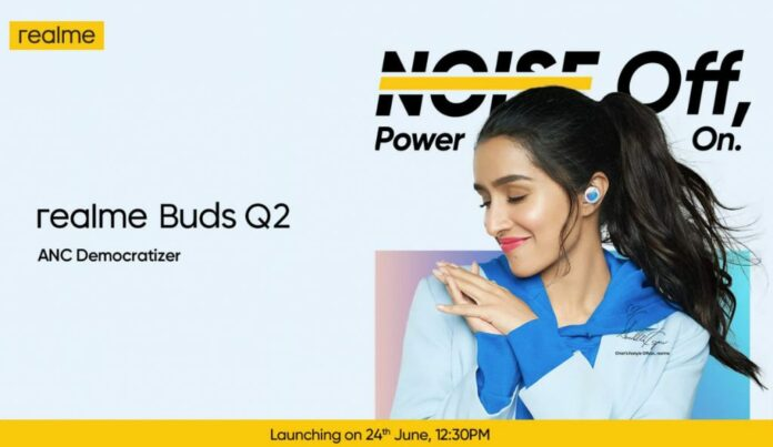 Realme Buds Q2 launching in India on June 24