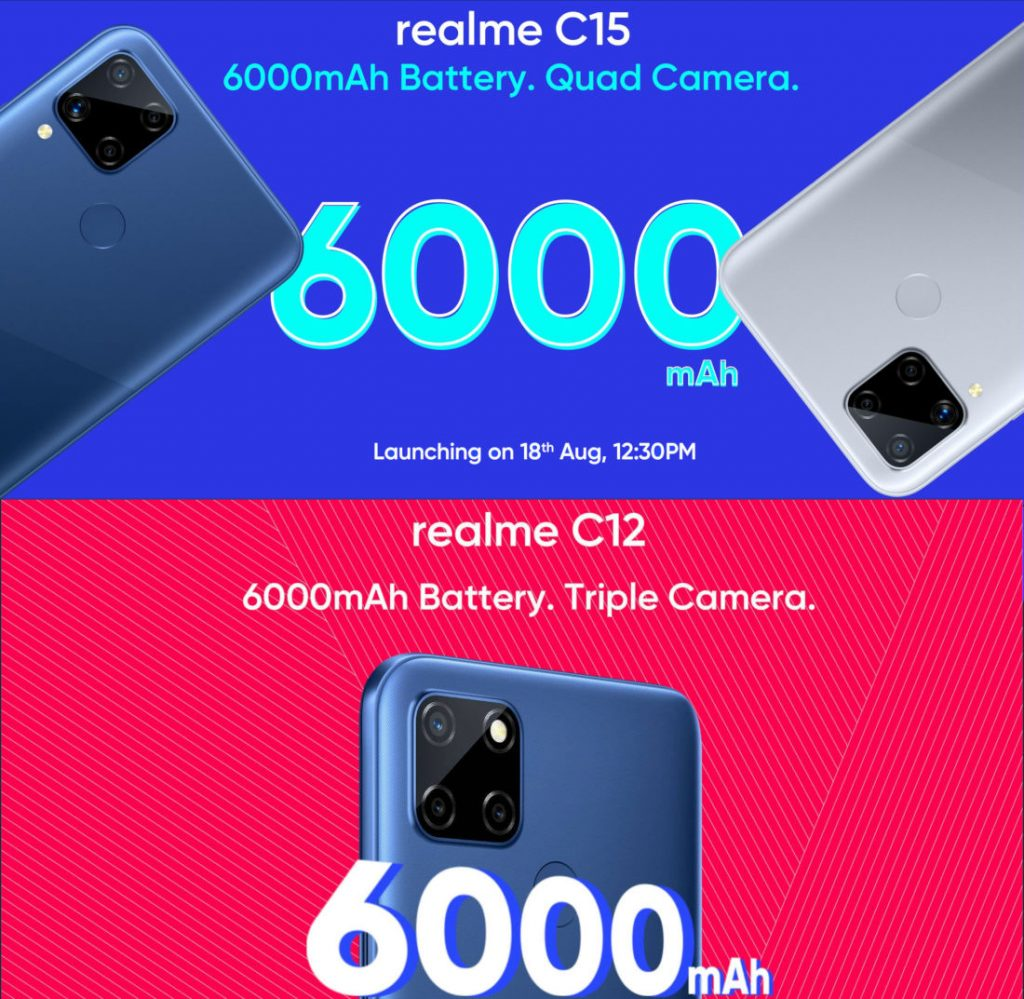 Today 18 August 2020  Technology News Highlights: Realme C15, Realme C12, Nokia 5.3
