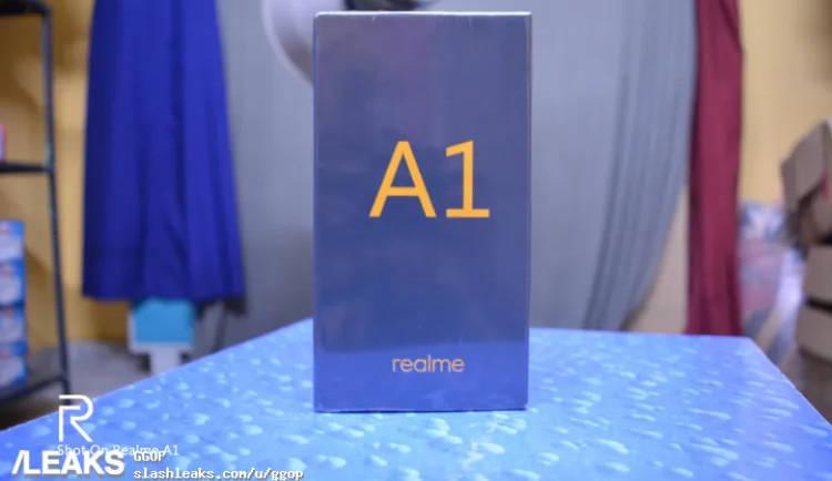 Realme A1 retail box leaked