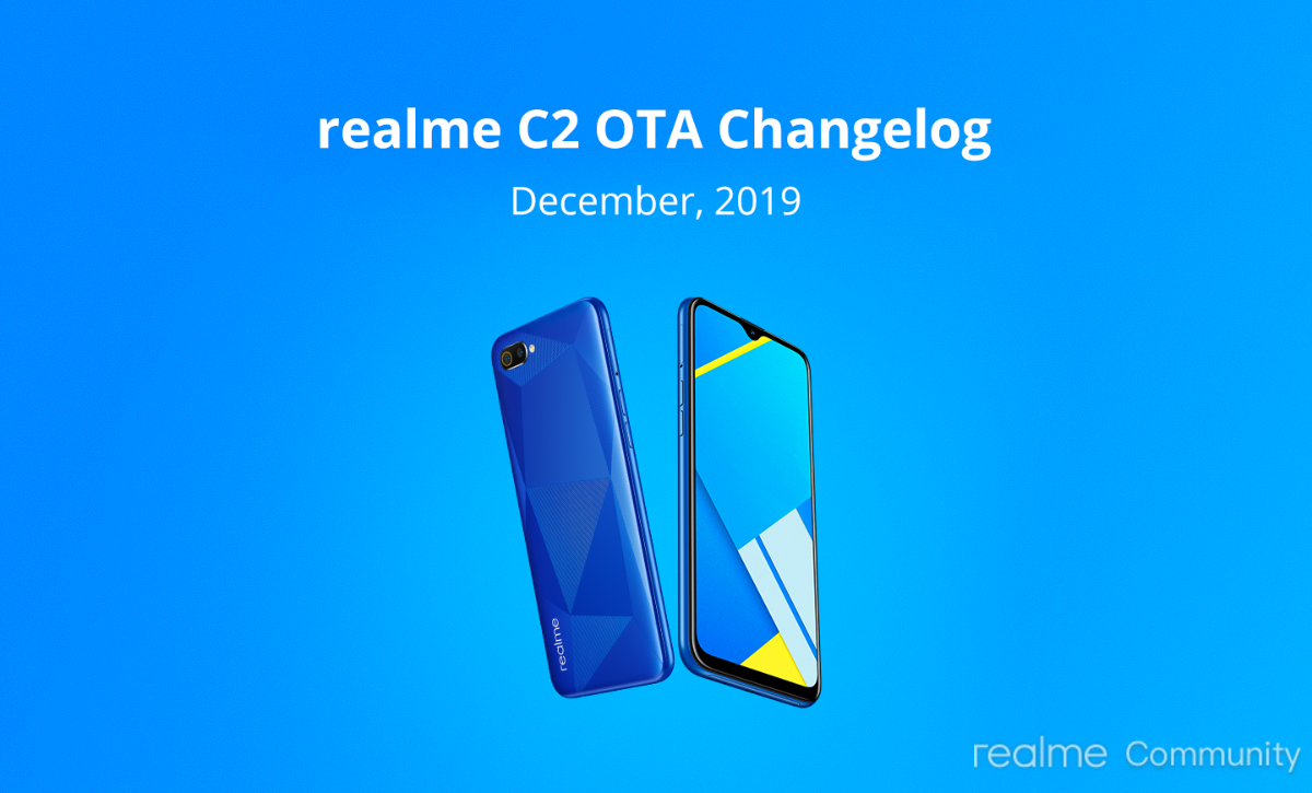Realme C2 receives a new software update with Dark Mode Toggle and December security patch