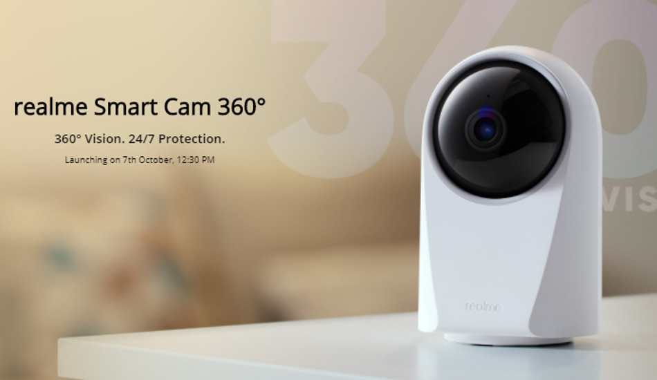 Realme Smart Cam 360° confirmed to launch in India on October 7