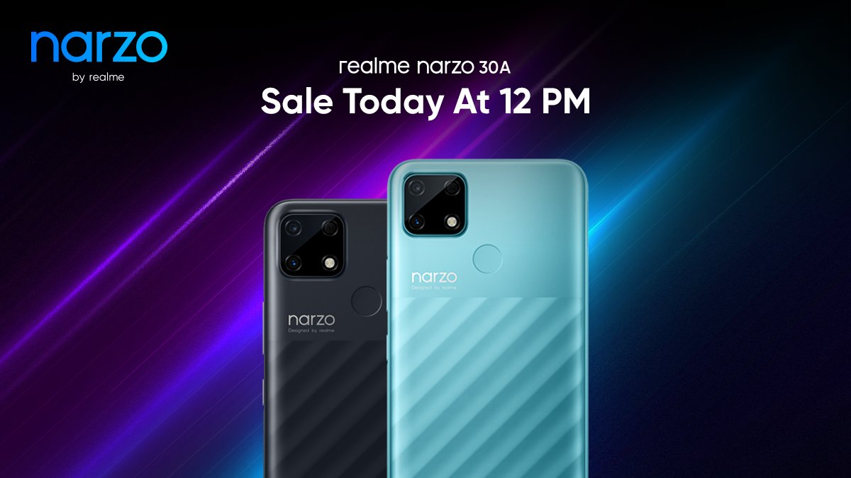 Realme Narzo 30A to go on first sale today at 12 PM on Flipkart