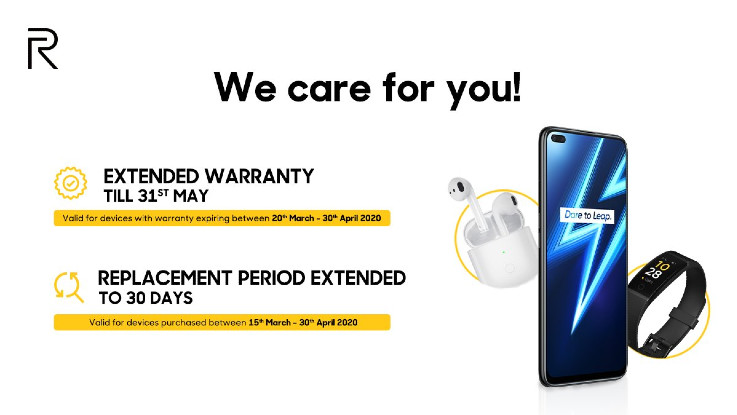 Realme announces extended warranty on its smartphones during Coronavirus lockdown