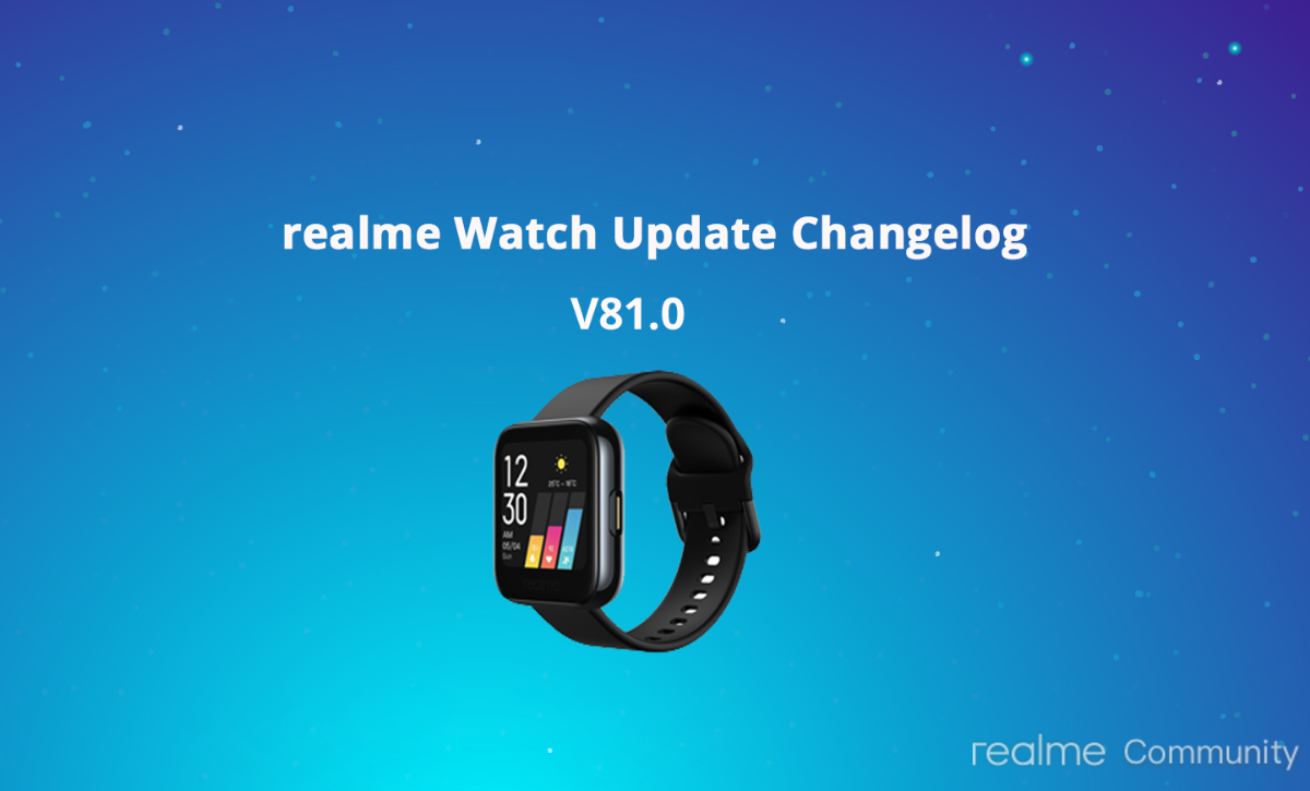 Realme Watch receives an update with improved notification management, battery optimizations and more