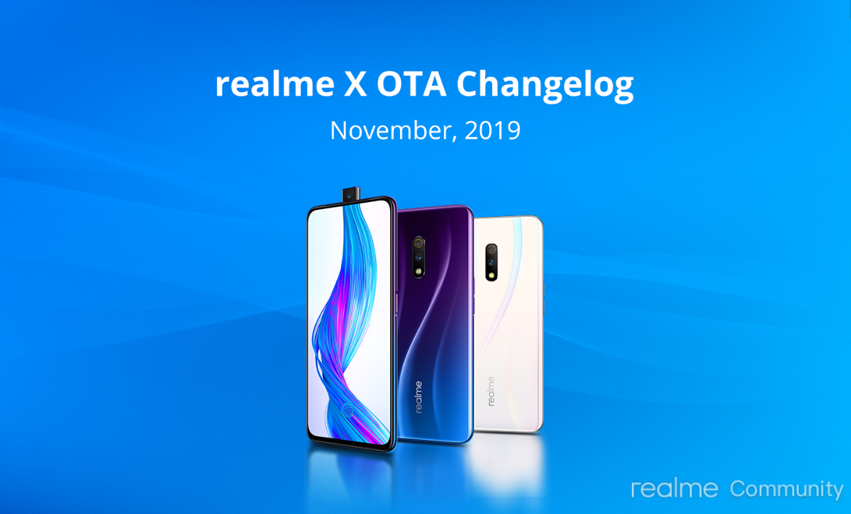 Realme X update brings dark mode quick switch toggle, November security patch, more