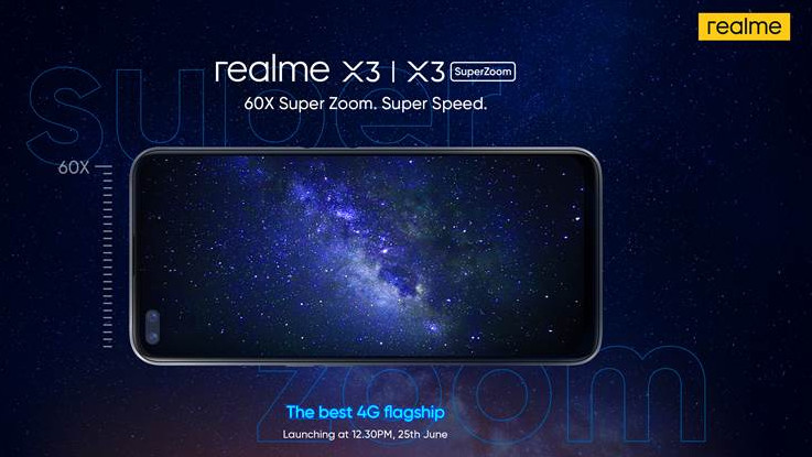Realme X3, X3 SuperZoom confirmed to launch in India on June 25