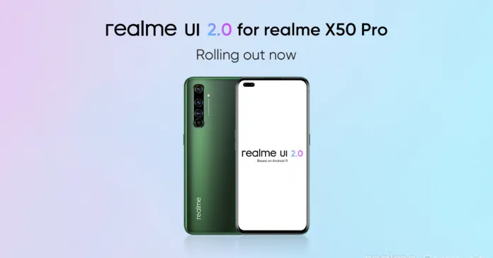 Realme X50 Pro 5G receives UI 2.0 based on Android 11