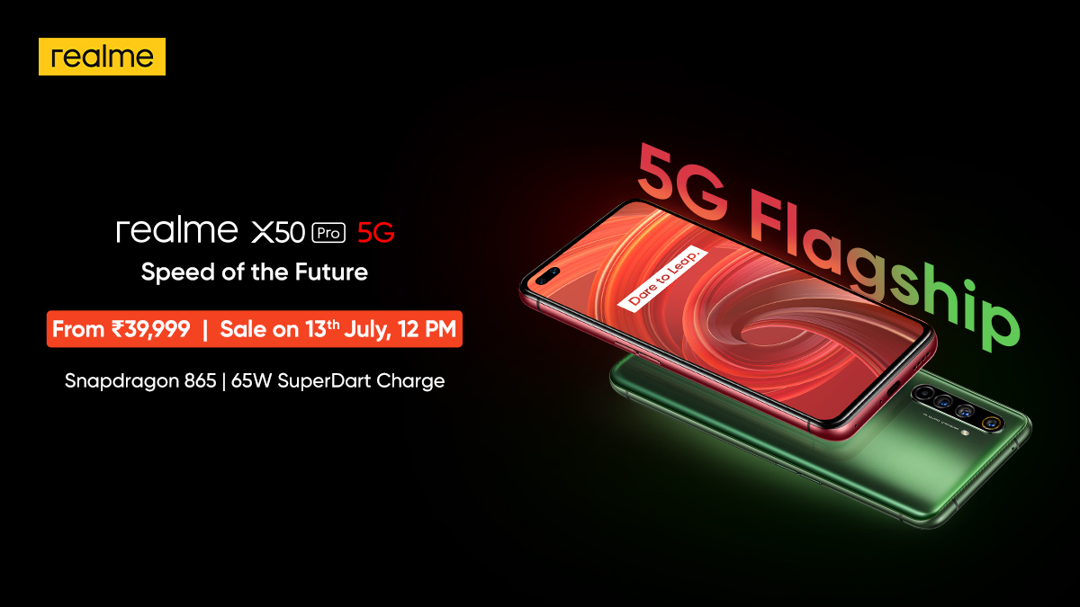 Realme X50 Pro 5G sale to resume in India on July 13