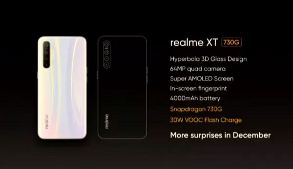 Realme XT 730G to be launched in December