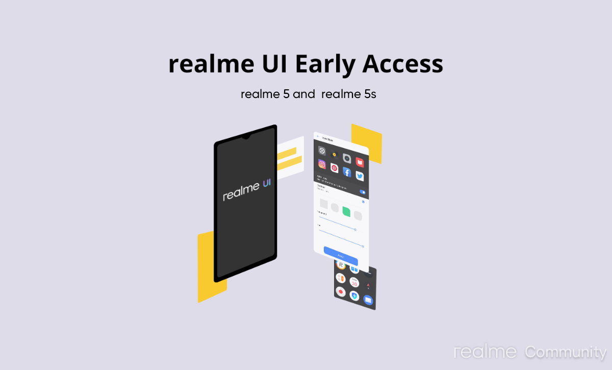 Realme UI early access programme for Realme 5, Realme 5s launched