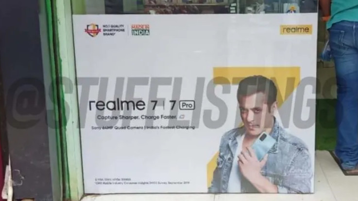 Realme 7 Pro spotted on a leaked retail poster