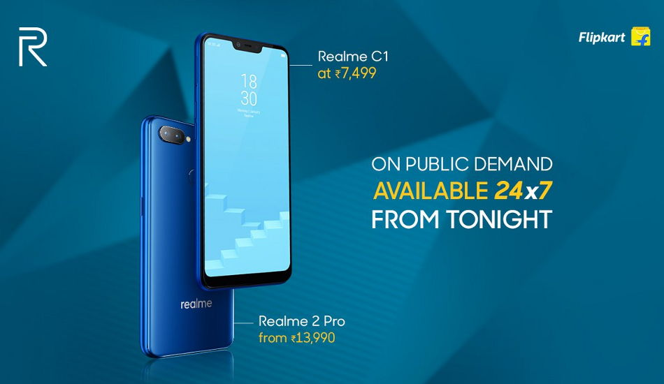 Realme C1 (2019) now available on open sale in India via Flipkart
