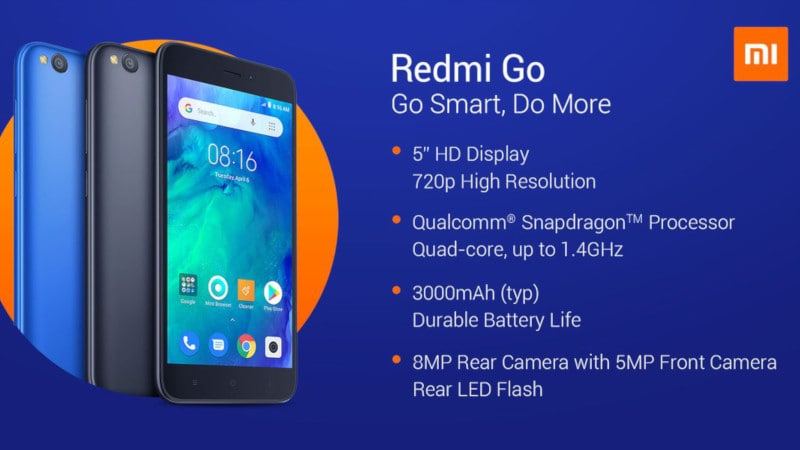 Xiaomi Redmi Go 16GB storage variant launched for Rs 4,799