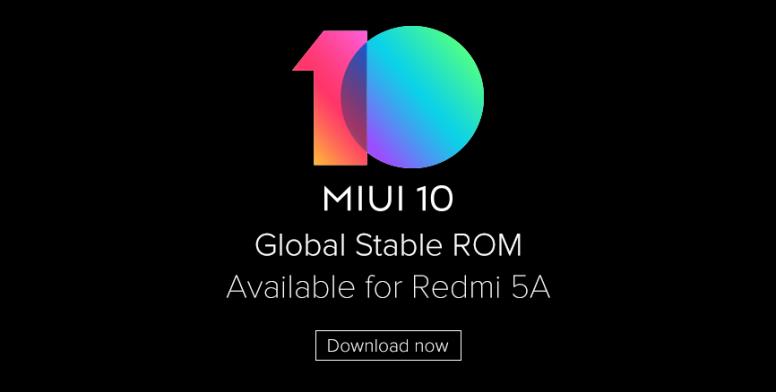 Xiaomi Redmi 5A receives MIUI 10 stable update