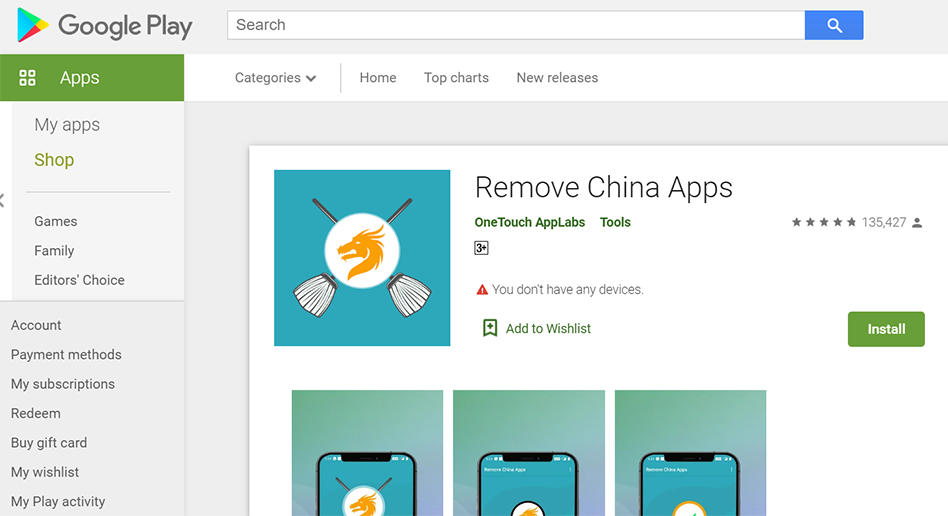 Big issues with Remove China Apps and its creator