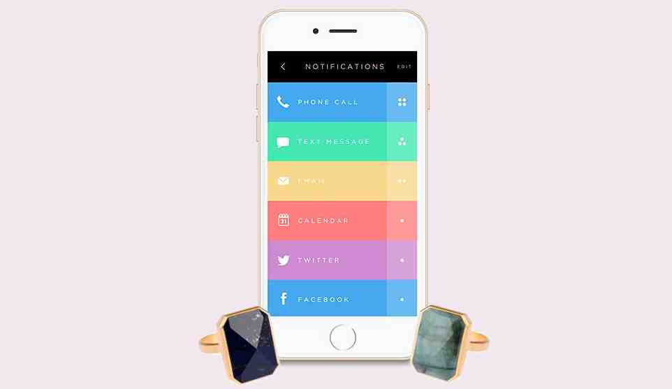 Ringly brings gemstone studded smart ring that vibrates when you get calls, SMSes