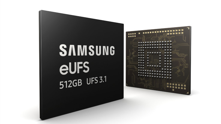 Samsung begins mass production of its new 512GB eUFS 3.1 storage
