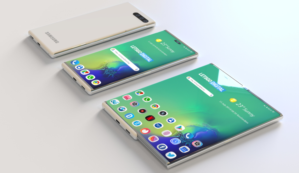 Samsung files a patent for a phone with an expandable display