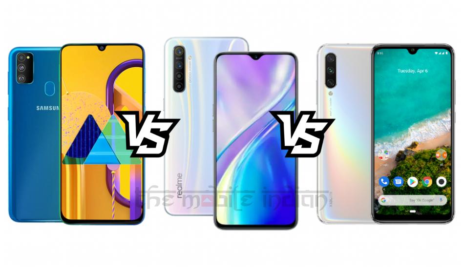 Samsung Galaxy M30s vs Realme XT vs Mi A3: Different formulas for the same price