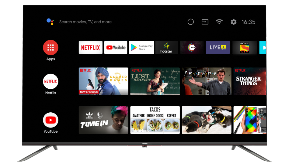 Sanyo launches three new Kaizen Series 4K Android TVs, price starts at Rs 29,999