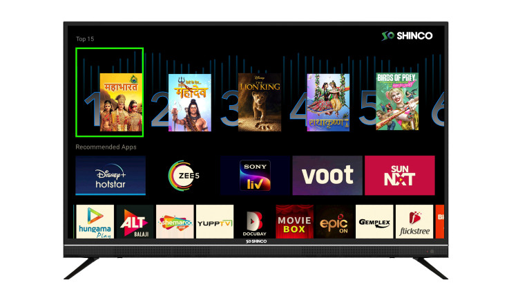 Shinco rolls out a new Uniwall UI update for its Smart TVs in India