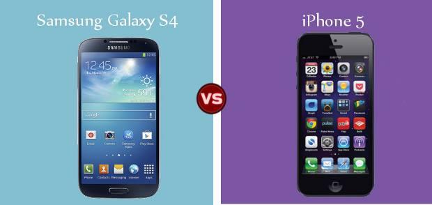 Compare Samsung Galaxy S4 Vs Apple iPhone 5