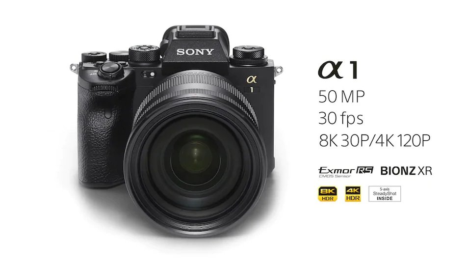 Sony Alpha 1 full-frame mirrorless camera launched with 50.1MP Sensor, 8K recording