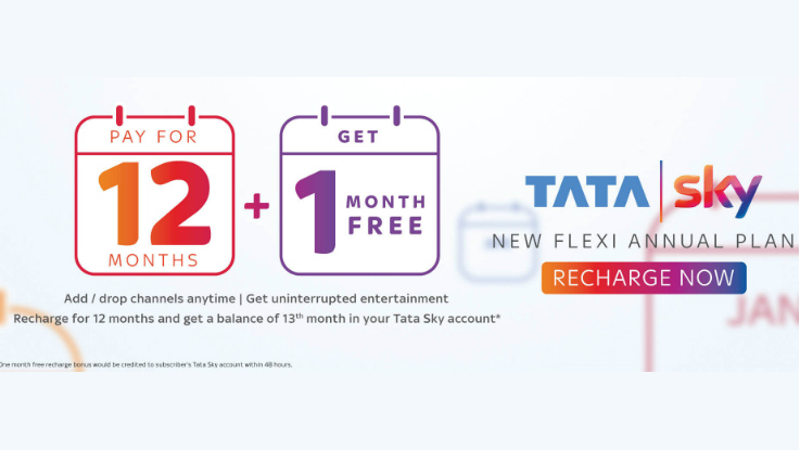 Tata Sky introduces New Flexi Annual Plan in India