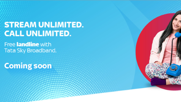 Tata Sky broadband to offer free landline service in India soon