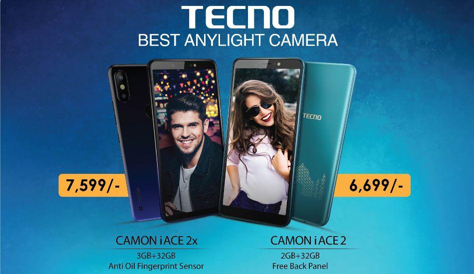 Tecno Camon iACE 2 and Camon iAce 2x launched, price starts Rs 6,699
