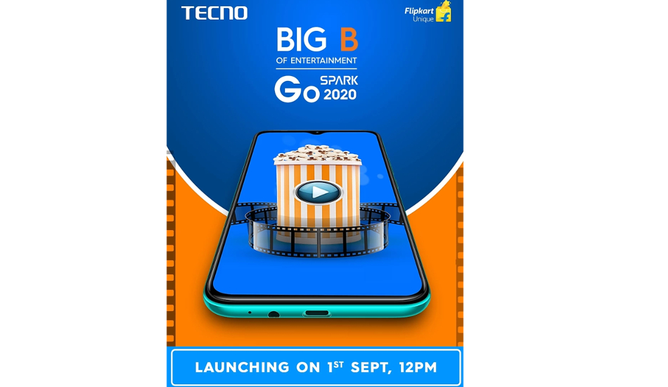 Tecno Spark Go 2020 to launch in India on September 1, will be exclusive to Flipkart