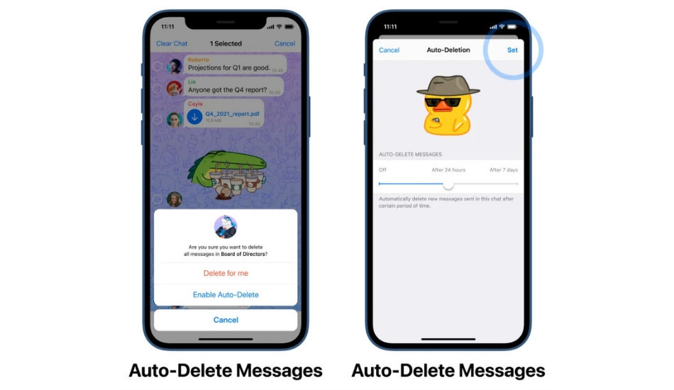 How to auto-delete messages in Telegram?