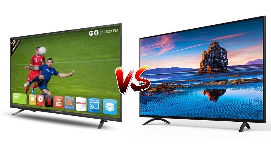 Best 32-inch Smart TV: Mi LED TV 4A vs Thomson Smart TV