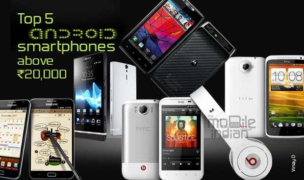 Top 5 smartphones above Rs 30,000