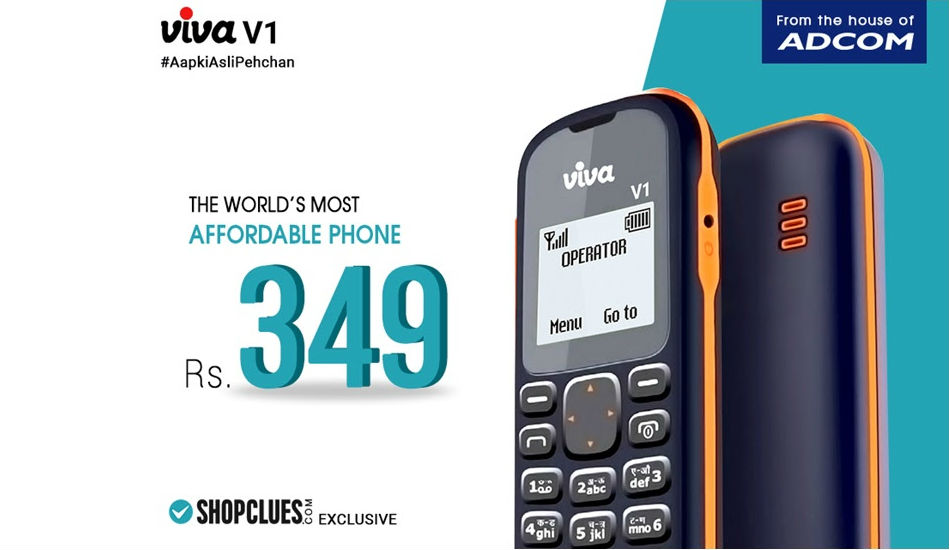 Viva V1 feature phone with 1.44-inch display launched in India at just Rs 349