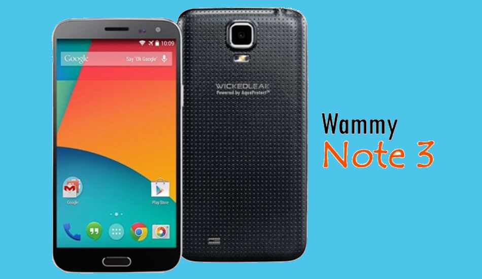 WickedLeak brings Wammy Note 3 octa core with Android KitKat for Rs 12,990