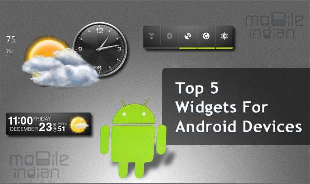 Top 5 must have widgets for Android