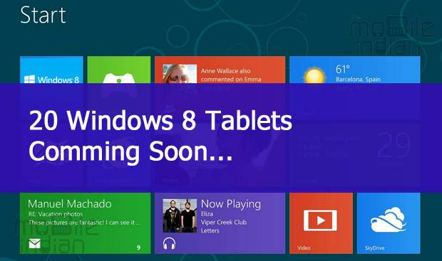 20 Windows 8 tablets lined up for launch