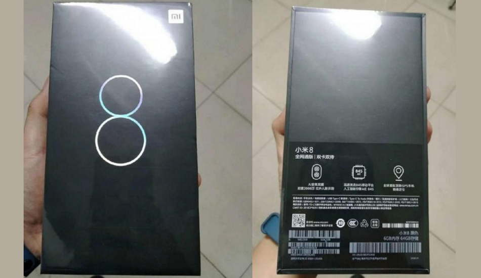 Xiaomi Mi 8 retail box leaked ahead of May 31 launch, reveals major details