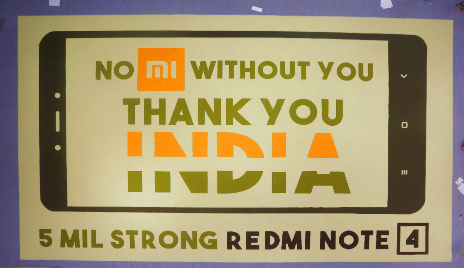 Xiaomi sold 5 million units of Redmi Note 4 within six months in India