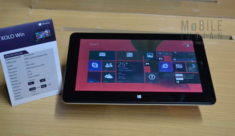 Xolo Win first cut: The first Windows 8. 1 tablet from an Indian brand