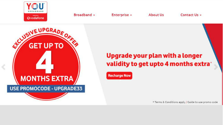 Vodafone-owned YOU broadband offers up to 4 months of extra validity