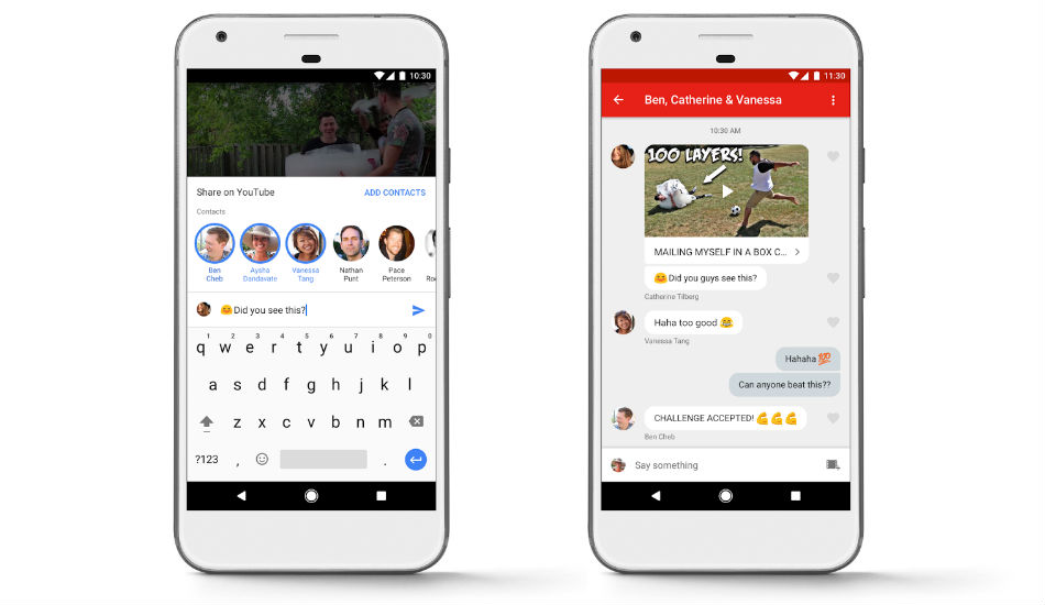 YouTube announces in-app messaging and video sharing features globally