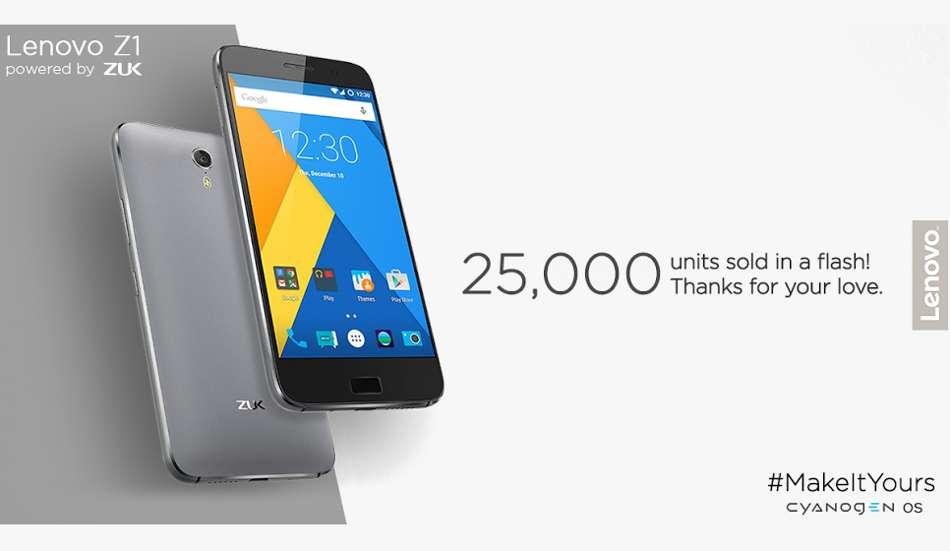 Sold 25K units of Zuk Z1 in first flash sale: Lenovo