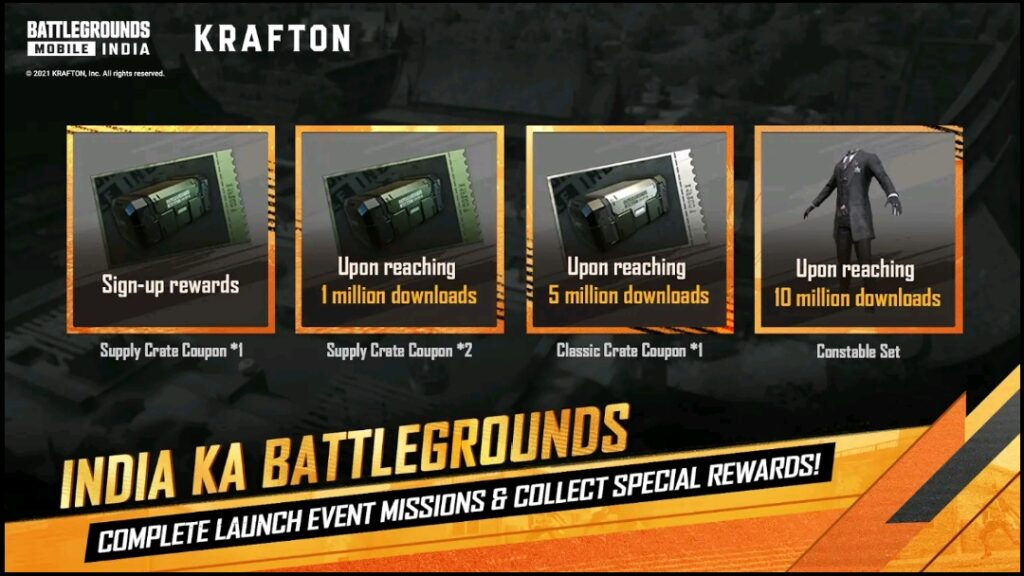 Battlegrounds Mobile India in-game events